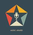 Music award logo label badge or design elemen vector image vector image