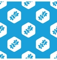 People puzzle hexagon pattern vector image