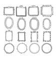Vintage hand drawn frames in Doodle set of design vector image