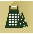 flat icon with long shadow Grater and cheese vector image