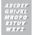 Cardboard or paper font type alphabet vector image