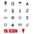 grey marking of cargo icon set vector image