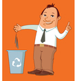 man taking out the trash vector image