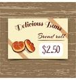 Price Tag Design Bread Rolls vector image