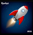 rocket ship with 3d flying vector image