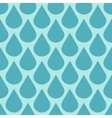 Teal water drops seamless background vector image