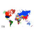 world map - countries vector image