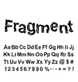 Abstract fragment font vector image