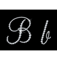 Diamond alphabetic letters of B vector image