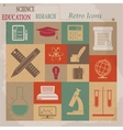 School and Education Flat Retro Icons vector image vector image