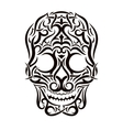 Tattoo tribal skull design element vector image vector image