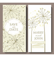 Marriage invitation card with flower background vector image vector image