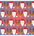 Christmas pattern Seamless texture with Santa and vector image