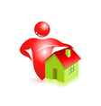 Estate 3d icon vector image