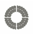 Asphalted road circle icon cartoon style vector image