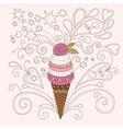 beauty ice cream vector image