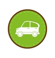 car transport industry contamination icon green vector image
