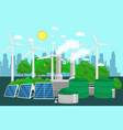 concept of alternative energy green power vector image