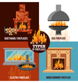 Fireplaces Design Concept vector image