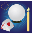fortune telling vector image