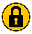 Lock button vector image