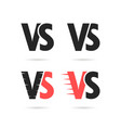 set of different versus signs vector image
