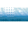 Square blue white gradient geometrical abstract vector image