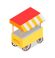 streetfood trolley with tent isolated vector image