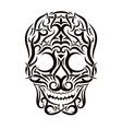 Tattoo tribal skull design element vector image