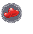 Two red heart symbol of love vector image