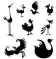 bird set vector image