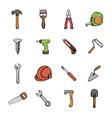 building icons set cartoon vector image