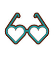 eyeglasses with heart shape vector image