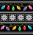 ugly jumper pattern with christmas tree lights vector image