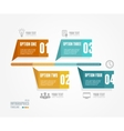 Timeline Infographic Retro style vector image