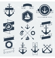 Collection of nautical symbols icons badges and vector image