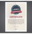 Best choice certificate template vector image