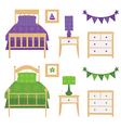 Children Bedroom Furniture Set vector image