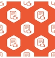 Orange hexagon good document pattern vector image