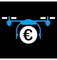 Euro Quadcopter Payment Icon vector image