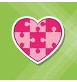 heart Puzzle icon design vector image