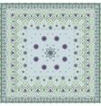 Blue handkerchief with delicate pastel ornaments vector image