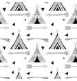 black wigwam pattern vector image