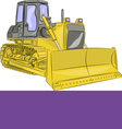 bulldozer g vector image