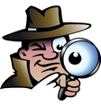 Hand-drawn of an Inspector Detective vector image