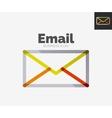 Minimal line design logo email icon vector image