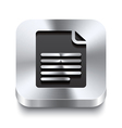 Square metal button perspektive - page curl icon vector image