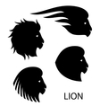 stylized lion head - vector image