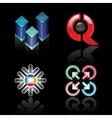 Set emblems on a black background vector image vector image