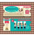 Ticket Birthday card party Invitation Template vector image vector image
